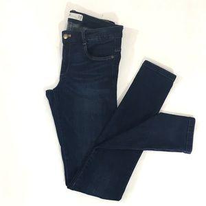 Zara Trafaluc Dark Wash Skinny Distressed Jeans